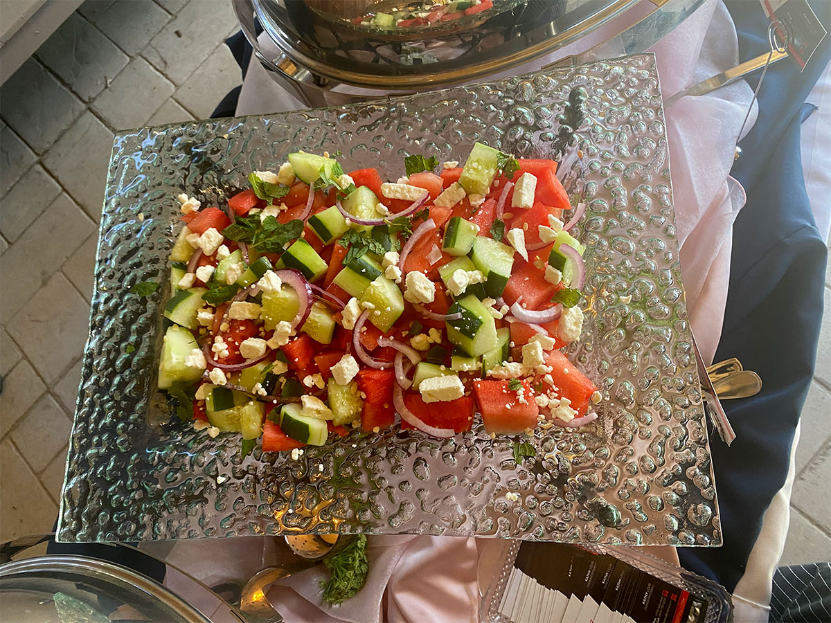 Photo of fruit salad at a baby shower
